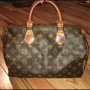 Louis Vuitton Malletier Monogram Speedy 30 Bag